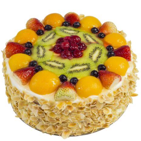 fruit custard sponge